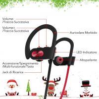 Cuffie Auricolari Bluetooth per Sport 5