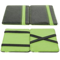 Portafolio Slim in Simil Cuoio Verde 8