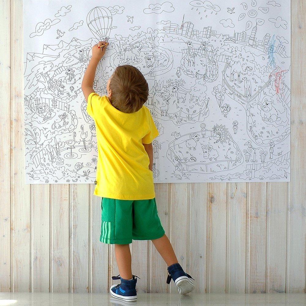Poster gigante da colorare per pareti e pavimento idee for Poster decorativi per pareti