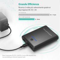 RAV Power Bank Caricatore Portatile Smartphone 5