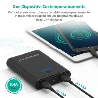 RAV Power Bank Caricatore Portatile Smartphone 6