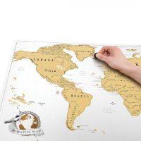 mappa segna viaggi da grattare 1