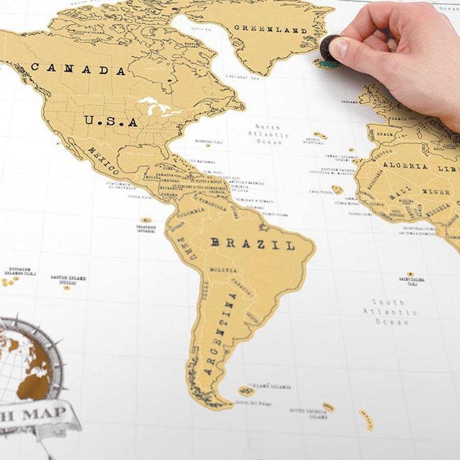 Cartina Mondo Per Viaggi.Mappa Segna Viaggi Da Grattare Idee Regalo Per