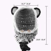 sciarpa cappello con orecchie di lana per bambini 3