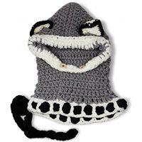 sciarpa cappello con orecchie di lana per bambini 5