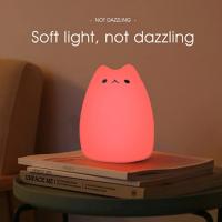 Lampada Notturna LED Gatto regalo per Bambini 05